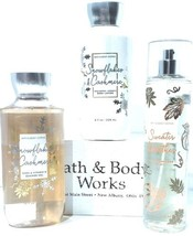 Bath and Body Works Sweater Weather Body Mist Snowflake Shower Gel & Bod... - $28.70