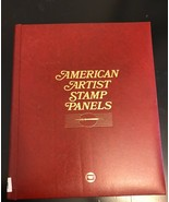 American Artist Stamp Panels.  Collection  of 18 color panels with stamps. - $28.05