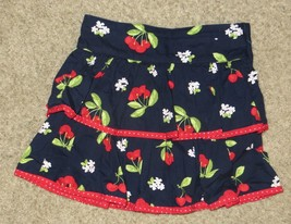 Gymboree Cherry Cute Navy Ruffle Skirt Size 4 - $12.19