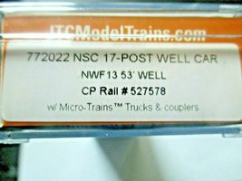 Jacksonville Terminal Company # 772022 CP Rail NSC 17-Post Well Car # 527578 image 4