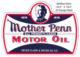 Mother Penn Motor Oil Reproduction Laser Cut Out Of Metal 16.5x23.5 - $46.53