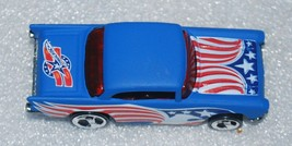 1957 Chevy Hot Wheels Mattel Diecast 1:64 1976 Malaysia Patriotic - $16.82