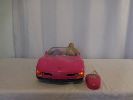 Barbie Corvette 2001 RC Remote Control Convertible  Pink Car  Works + 19... - $32.69