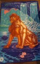 Rare Large Vintage 2 sided Lion King Blanket Disney Charater Adult Simba... - $74.79