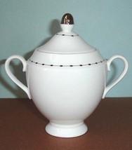 Wedgwood Barbara Barry Pearl Strand Sugar Bowl w/Lid Made in England New... - $39.90