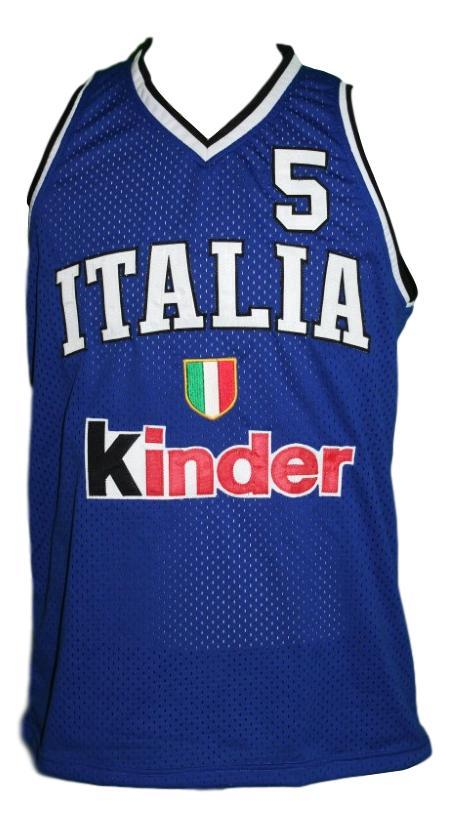 Gianluca basile team italia basketball jersey blue   1