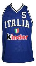 Gianluca Basile Team Italia Italy Basketball Jersey New Sewn Blue Any Size image 1