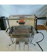 "FARBERWARE ""OPEN HEARTH"" ELECTRIC BROILER & ROTISSERIE #455 USED IN BOX - $73.49"