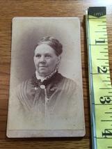 "CDV Carte De Viste Older Lady Nicely Dressed ""School Teacher Type"" 1880's! - $6.00"