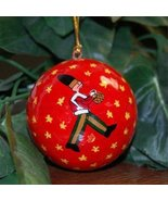 Hand Painted Paper Mach? Drummer Soldier Ornament - $9.85