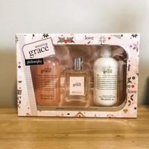 Philosophy Amazing Grace Gift Set EDT Body Wash Shower Gel Firming Body Emulsion - $39.59