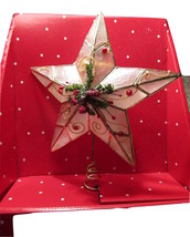 Star Christmas Tree Topper - Holiday Time Red Beaded Star Tree Topper - $15.00