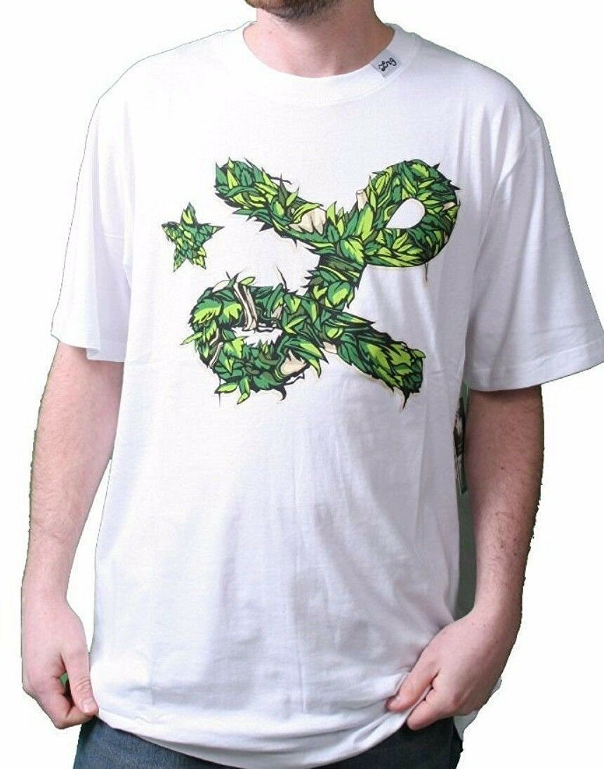 LRG Lifted Research Group Mens White Stick It To The Thicket T-Shirt Small NWT