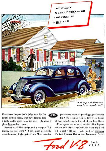 Primary image for 1937 Ford V-8 - The BIG Car - Promotional Advertising Poster
