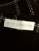 "women's Petite Sophisticate gray/white/red plaid skirt waist 30"" image 5"