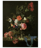 "20x30""Poster on Canvas.Home Room Interior design.Flower bouquet vase.6456 - $60.78"