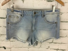 Forever 21 Womens Sz 28 Jean Shorts Light Wash Denim Mini Micro Summer C... - $16.82