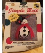 Vintage Holiday Jingle Bell Snowman Necklace Kit Brand New - $12.99