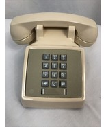 Vintage Western Electric 2500DR Ivory Desk Push Button Phone  - $47.49