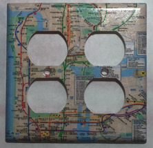 NYC New York City Subway Map Light Switch Outlet Wall Cover Plate Home decor image 6