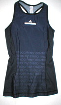 NWT Womens New Adidas S Black Blue Stella McCartney Tank Top Yoga Gym Ba... - $80.00