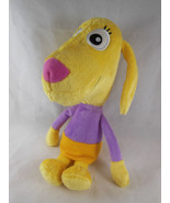 Baby Genius LOLA Soft Plush Toy by Manhattan Toy Co Yellow Dog 11 cloth ... - $6.23