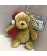 Gund Winnie the Pooh Classic Pooh Red Holiday Hat Bear Plush Stuffed Ani... - $39.99