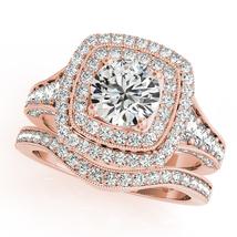 14k Rose Gold Finish 925 Sterling Silver Womens Wedding Bridal Diamond R... - $108.99