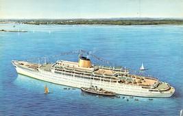Victoria Ocean Liner Ship Incre Line 1962c postcard - $5.89