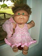 Cabbage Patch Kids 2004 PA-18 Girl GRN Eyes BRN Hair 3 pc Dressed  XLENT!  - $10.80