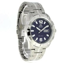 Orient Automatic Men's Watch FEM7L004D9 Blue Dial Silver Link Bracelet - $137.19