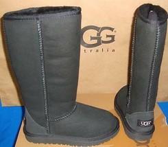 UGG Australia KIDS Black Classic Tall Suede Sheepskin Boots Size US 13 N... - $89.05