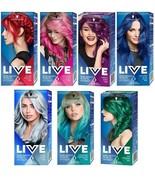 Schwarzkopf LIVE ULTRA BRIGHTS or Pastel 2 in 1 Semi-Permanent Hair Dye ... - $14.99