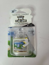 Yankee Candle Housewarmer Car Jar Ultimate Air Freshener Clean Cotton Scent - $8.99