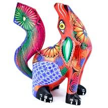 Handmade Alebrijes Oaxacan Copal Wood Carved Folk Art Howling Wolf Coyote Figure image 1