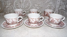 ALFRED MEAKIN FAIRWINDS STAFFORDSHIRE ENGLAND CUPS & SAUCERS SAILORS FAR... - $34.60