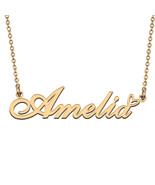 Name Necklace Gold and Silver for Friend Family Member Named Amelia - $13.99+