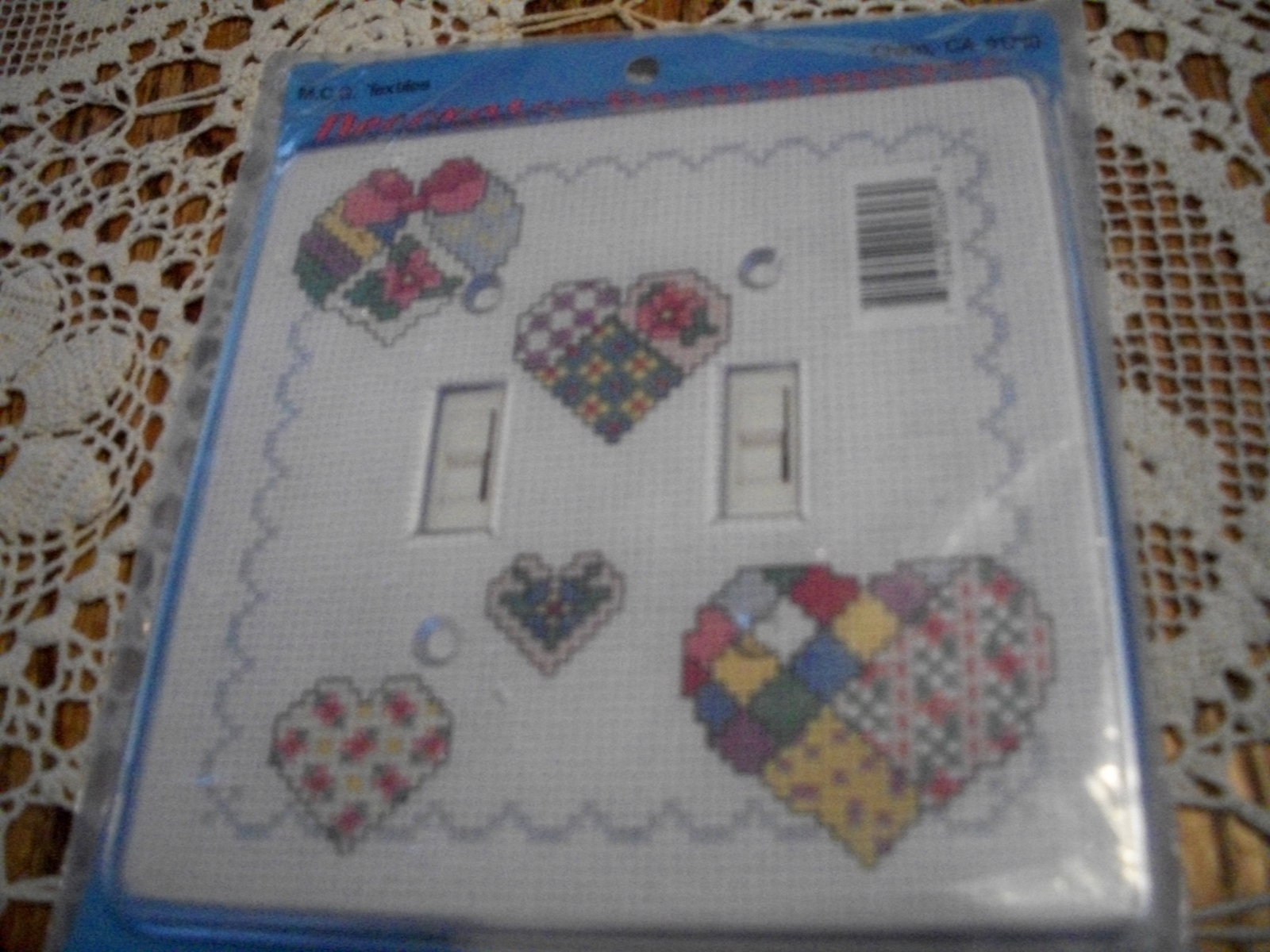 Primary image for Decorator Hearts Double Switchplate to Cross Stitch
