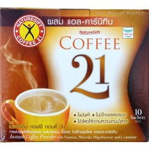 Naturegift Coffee 21 With L-Carnitine Diet and Weight Loss Formula 10 Sa... - $12.38