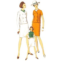 60s Vintage Vogue Sewing Pattern 7268 Misses Suit Slim Skirt Blouse Jack... - $19.95