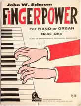 Fingerpower John W. Schaum For Piano Or Organ Book One Vintage 1963 Shee... - $29.69