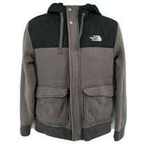The North Face Men's Jacket Size M Gray Hooded Embroidered Logo - $59.35