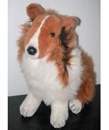 Gund Lassie Puppy Dog Plush Stuffed Animal Sitting Up Vintage 1989 Rough... - $39.58