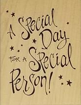 Inkadinkado A Special Day Rubber Stamp