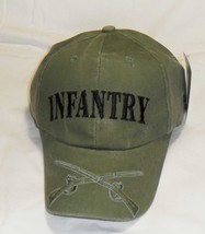 US ARMY INFANTRY - US Army Crossed Weapons BL-ODG Military Baseball Cap Hat - $23.95