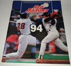 1994 Scranton Wilkes Barre Red Barons Baseball Game Program Book Unscored - $3.59