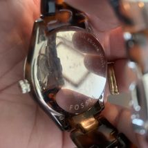 FOSSIL Ladies Brown Tortoise Shell Multifunction Watch NEW BATTERY image 5