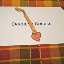 Dooney & Bourke Leather Heart Purse Charm