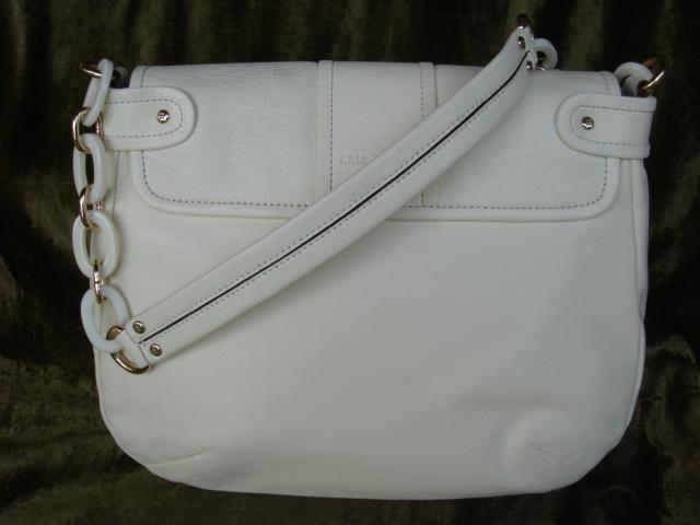 Kate Spade White Leather Layne Shoulder Handbag $425++