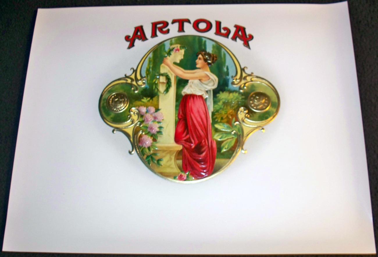 Classic Artola Embossed Inner Cigar Label, 1900's